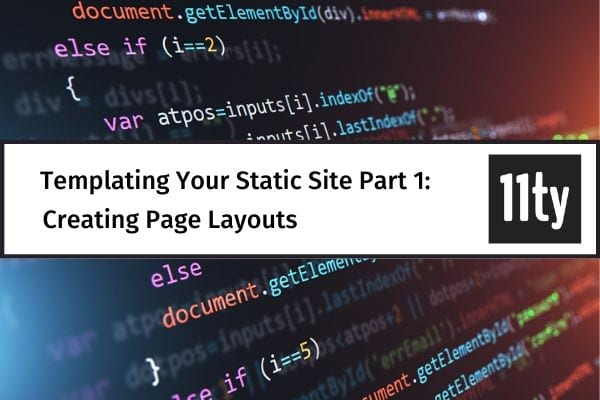templating static sites eleventy